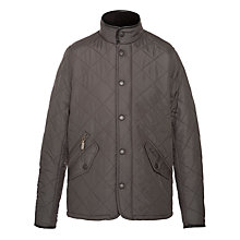 Buy Barbour Boys' Powell Jacket, Charcoal Online at johnlewis.com