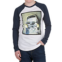 Buy Animal Boys' Braze Long Sleeved Raglan Top, Navy Online at johnlewis.com