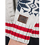 Buy Animal Boys' Fair Isle Knitted Hoodie, Cream Online at johnlewis.com