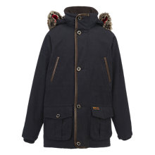 Buy Barbour Boys' Waterproof Skipton Parka Jacket, Navy Online at johnlewis.com