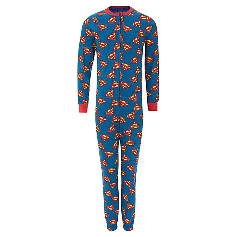 Buy Superman Onesie, Blue/Red Online at johnlewis.com