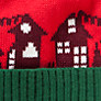 Buy John Lewis Boy Christmas House Bobble Hat, Green/Red Online at johnlewis.com
