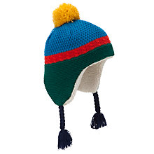 Buy John Lewis Boy Colour Block Knitted Trapper Hat, Multi Online at johnlewis.com