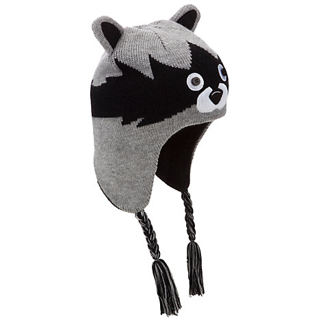Buy John Lewis Boy Raccoon Hat, Grey/Black Online at johnlewis.com