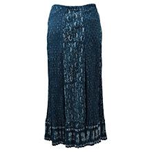 Buy East Crinkled Skirt, Indigo Online at johnlewis.com