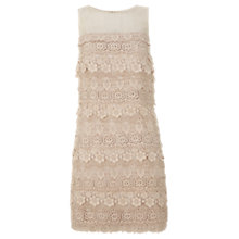 Buy Mint Velvet Layered Lace Dress, Pale Pink Online at johnlewis.com