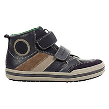 Buy Geox Elvis Trainers, Navy/Beige Online at johnlewis.com