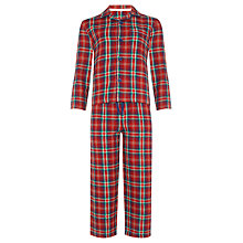 Buy John Lewis Boy Checked Pyjamas, Red/Multi Online at johnlewis.com