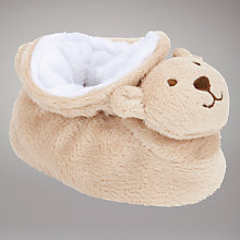 Buy John Lewis Baby Teddy Bear Booties, Brown Online at johnlewis.com