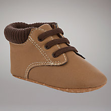 Buy John Lewis Baby Work Boots, Brown Online at johnlewis.com