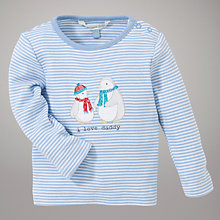 Buy John Lewis Baby Striped Penguin Top, Blue/White Online at johnlewis.com
