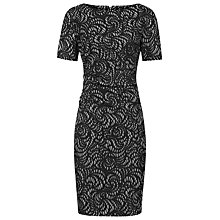 Buy Reiss Textured Bodycon Dress, Black Online at johnlewis.com