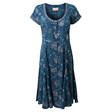 Buy East Clematis Print Dress, Indigo Online at johnlewis.com