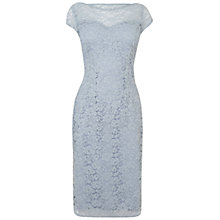 Buy Jaeger Lace Dress, Light Blue Online at johnlewis.com
