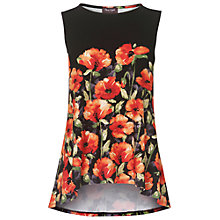 Buy Phase Eight Lydia Poppy Top, Black/Multi Online at johnlewis.com