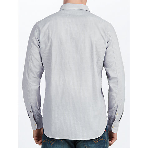 Buy Replay Striped Long Sleeve Shirt, Grey Online at johnlewis.com
