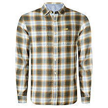 Buy Replay Flannel Long Sleeve Check Shirt, Grey/Blue Online at johnlewis.com