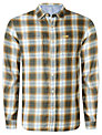 Replay Flannel Long Sleeve Check Shirt, Grey/Blue