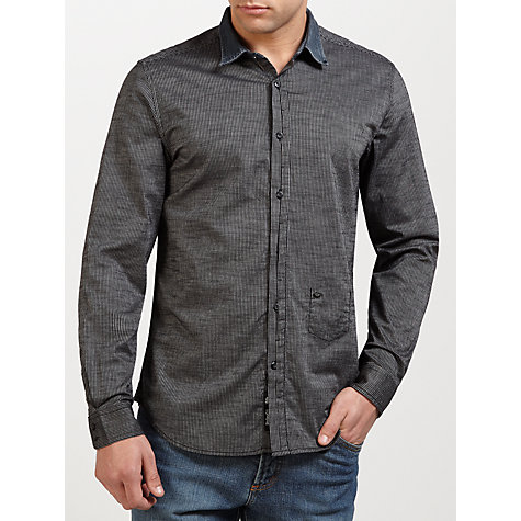 Buy Diesel Saturno-R Denim Collar Shirt Online at johnlewis.com