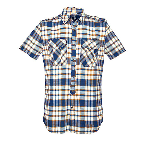 Buy Diesel Sadela-R Short Sleeve Check Shirt Online at johnlewis.com