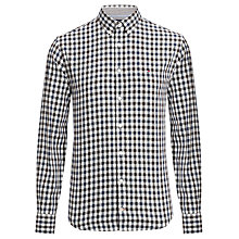 Buy Tommy Hilfiger Brend Checked Shirt, Evergreen/Dutch Navy Online at johnlewis.com