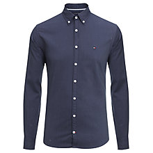 Buy Tommy Hilfiger Dobby Button Down Collar Shirt, Blue Online at johnlewis.com
