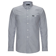 Buy Fred Perry End On End Weave Long Sleeve Shirt Online at johnlewis.com