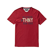Buy Tommy Hilfiger Logo Print T-Shirt Online at johnlewis.com