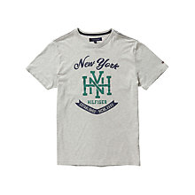 Buy Tommy Hilfiger Falko T-Shirt, Cloud Online at johnlewis.com