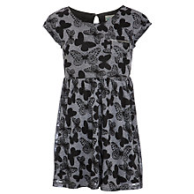 Buy Yumi Girl Butterfly Print Dress, Grey Online at johnlewis.com