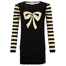 Buy Yumi Girl Party Dress, Black/Gold Online at johnlewis.com
