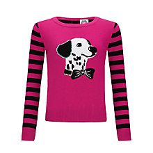 Buy Yumi Girl Party Dog Jumper, Black/Pink Online at johnlewis.com