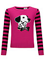 Yumi Girl Party Dog Jumper, Black/Pink