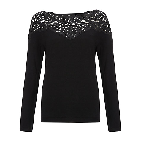 Buy COLLECTION by John Lewis Nicolette Lace Jumper, Black Online at johnlewis.com