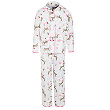 Buy John Lewis Girl Reindeer Pyjamas, Cream Online at johnlewis.com