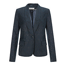 Buy COLLECTION by John Lewis Bailey Jacquard Jacket, Black/Blue Online at johnlewis.com