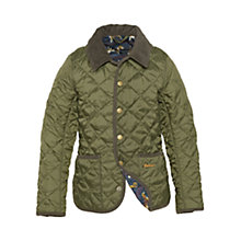 Buy Barbour Boys' Alderly Quilted Jacket, Olive Online at johnlewis.com