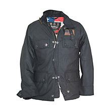 Buy Barbour Boys' Crown Waxed Jacket, Black Online at johnlewis.com