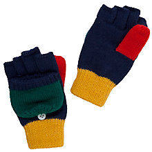 Buy John Lewis Boy Colour Block Flip-up Gloves, Multi Online at johnlewis.com