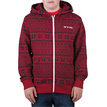 Buy Animal Fairisle Hoodie, Red Online at johnlewis.com