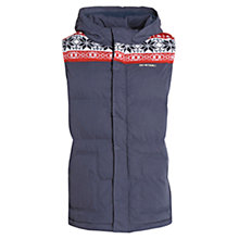 Buy Animal Boys' Navin Gilet, Indigo Online at johnlewis.com