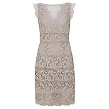 Buy Mint Velvet Lace & Sheer Dress, Stone Online at johnlewis.com