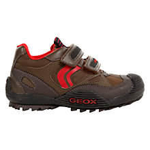 Buy Geox Savage Shoes, Brown/Red Online at johnlewis.com