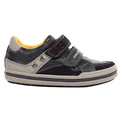 Buy Geox Elvis Low Trainers, Navy/Grey Online at johnlewis.com