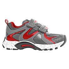 Buy Geox Stark Trainers, Grey/Red Online at johnlewis.com