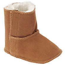 Buy John Lewis Baby Suede Booties, Brown Online at johnlewis.com