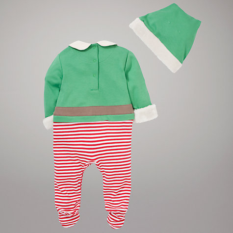 Buy John Lewis Baby Elf Costume, Green/Multi Online at johnlewis.com