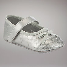 Buy John Lewis Baby Party Shoes, Silver Online at johnlewis.com