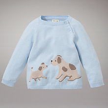 Buy John Lewis Baby Dog Jumper, Blue Online at johnlewis.com