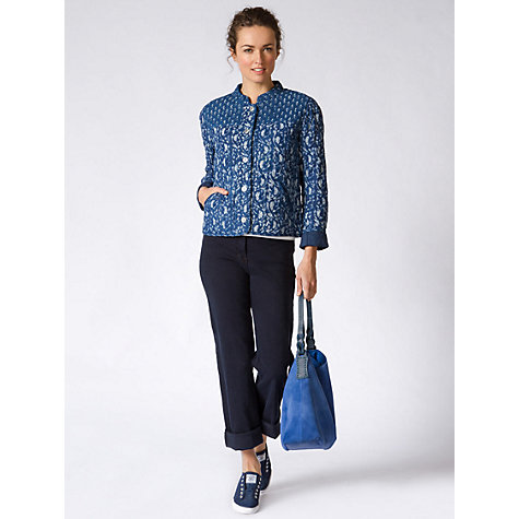 Buy East Jodpur Quilted Jacket, Indigo Online at johnlewis.com
